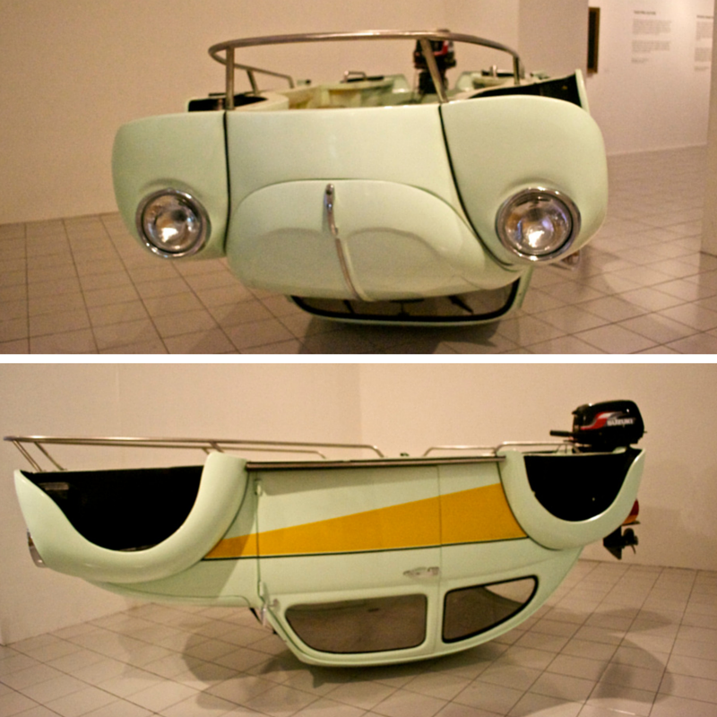 Eddi Prabandono - 'Revolocean' {VW Beetle real size wood speed boat out board engine}