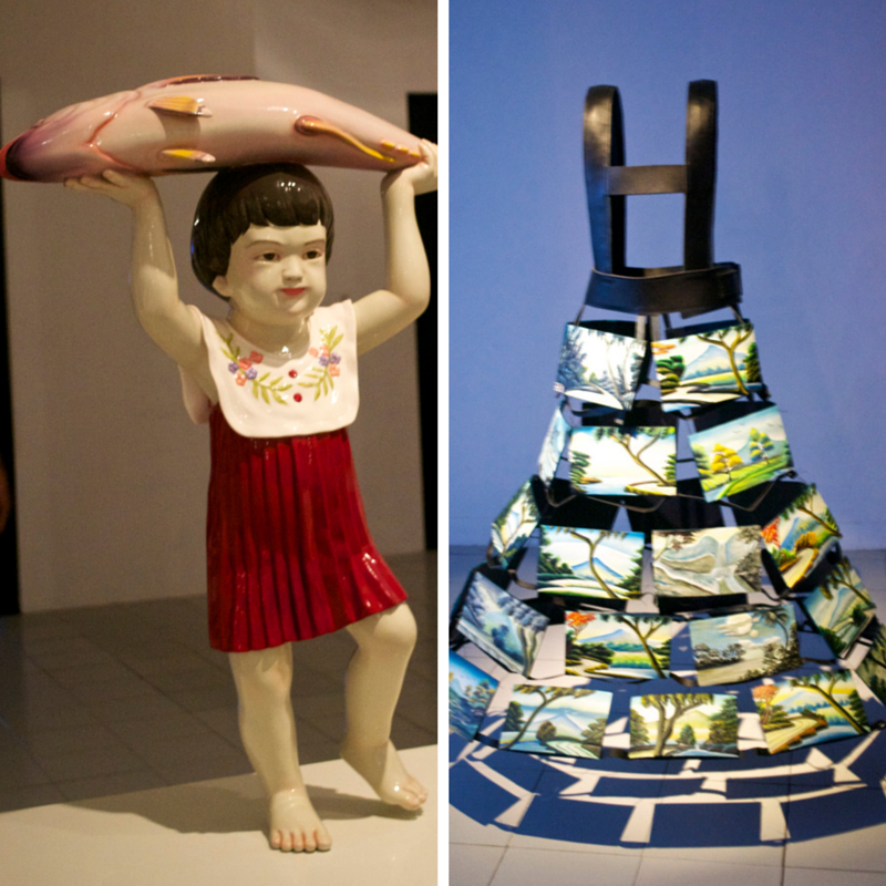 L:Bunga Jeruk - 'Little Girl and The Fish' R: Mella Jaarsma - 'The Landscaper'