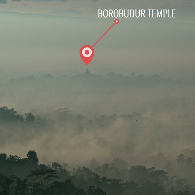 Borobudur Temple Sunrise Closeup Pic