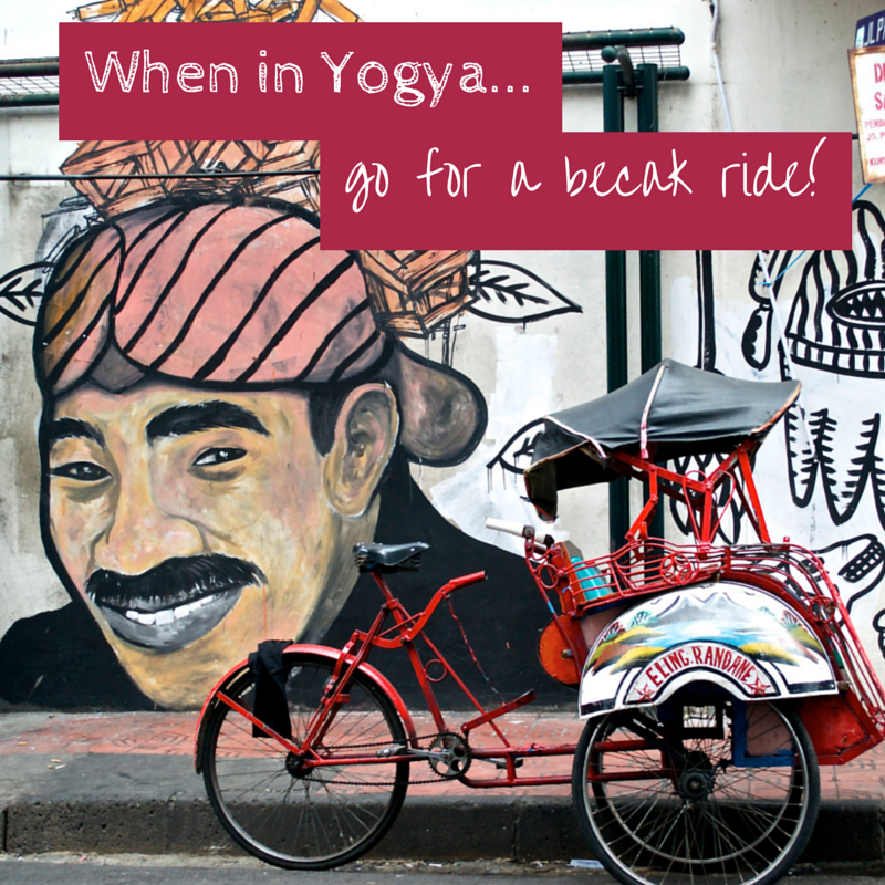When in Yogya go for a becak ride Title pic
