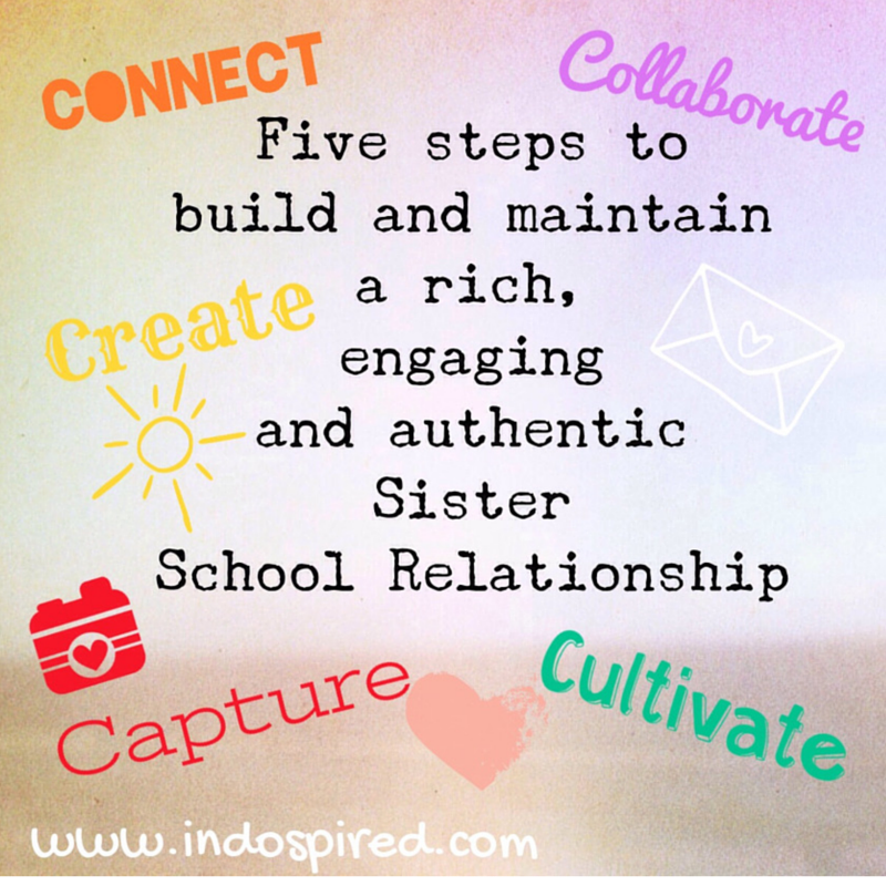 Five steps to build and maintain a rich engaging and authentic sister school relationship Title Pic