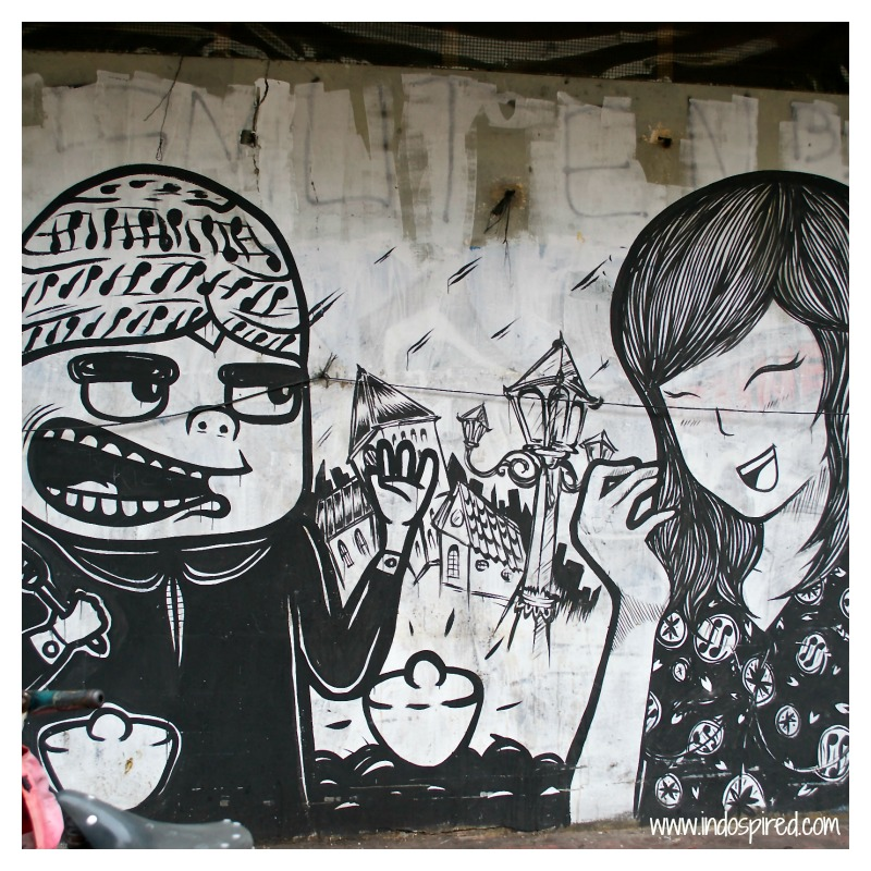 Yogya boy + girl street art Pic