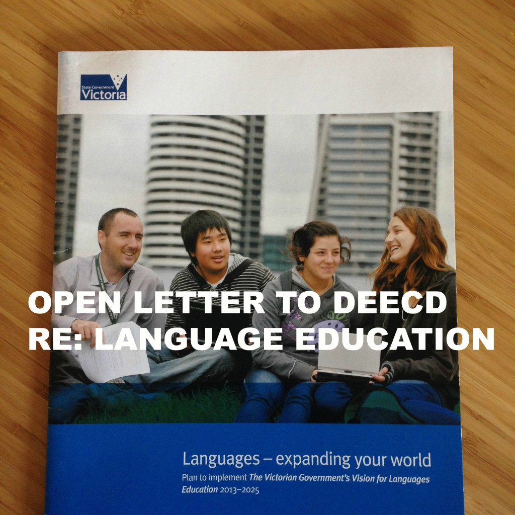OPEN LETTER to DEECD Re Language Education Title Pic