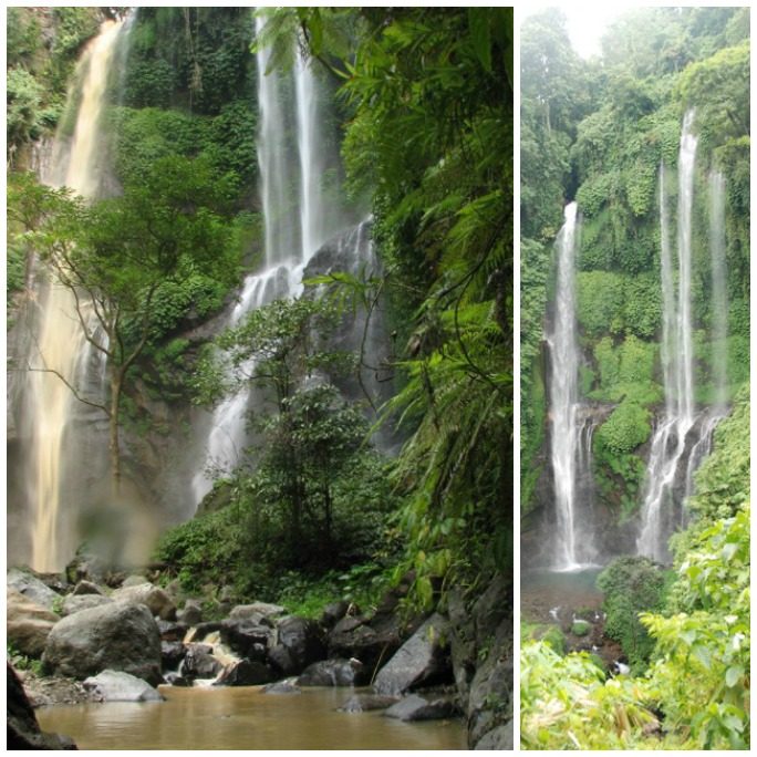 Sekumpul Waterfalls Collage