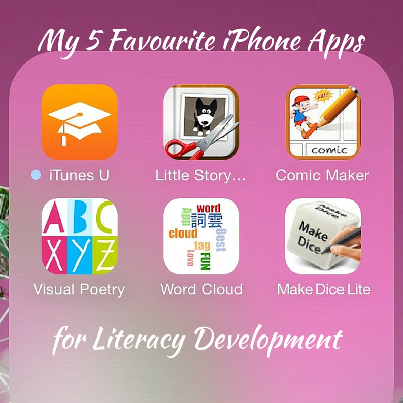 My 5 Favourite iPhone Apps for LIteracy Title Pic