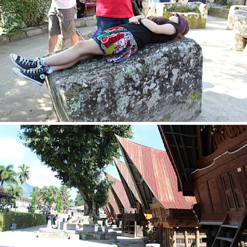 CH batak houses + execution stone collage