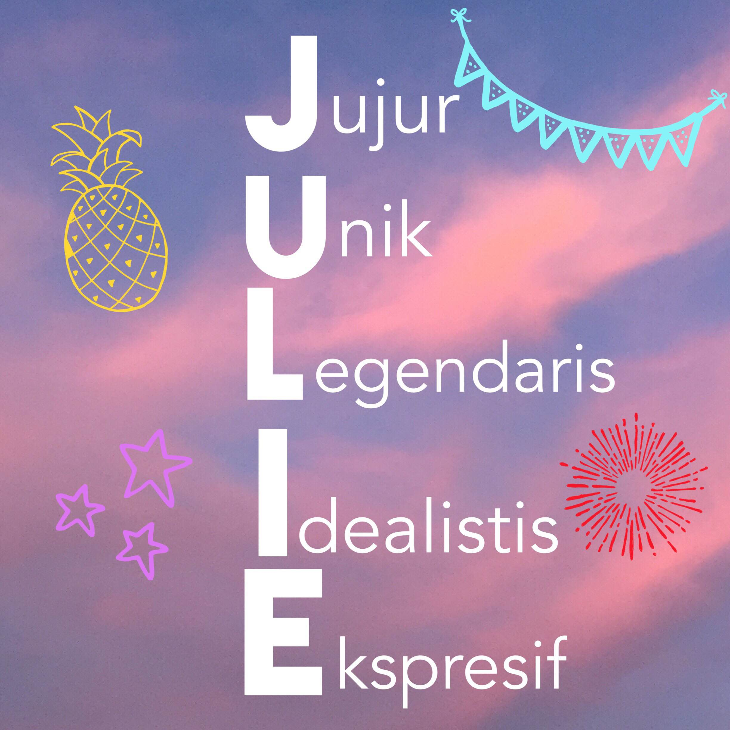 Acrostic poem sample JULIE