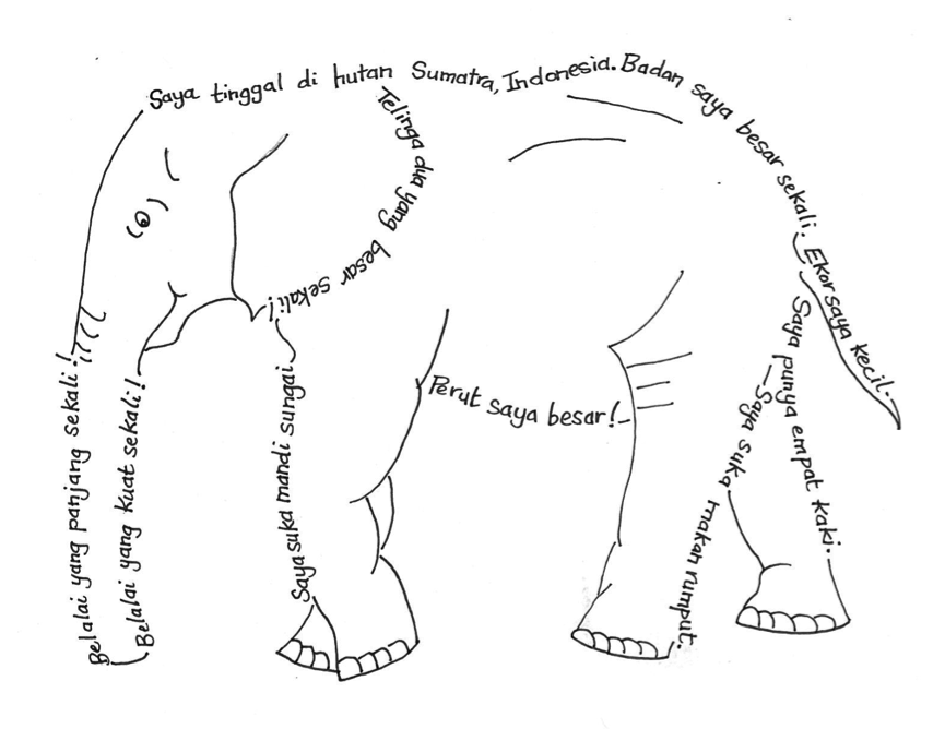 elephant concrete poem