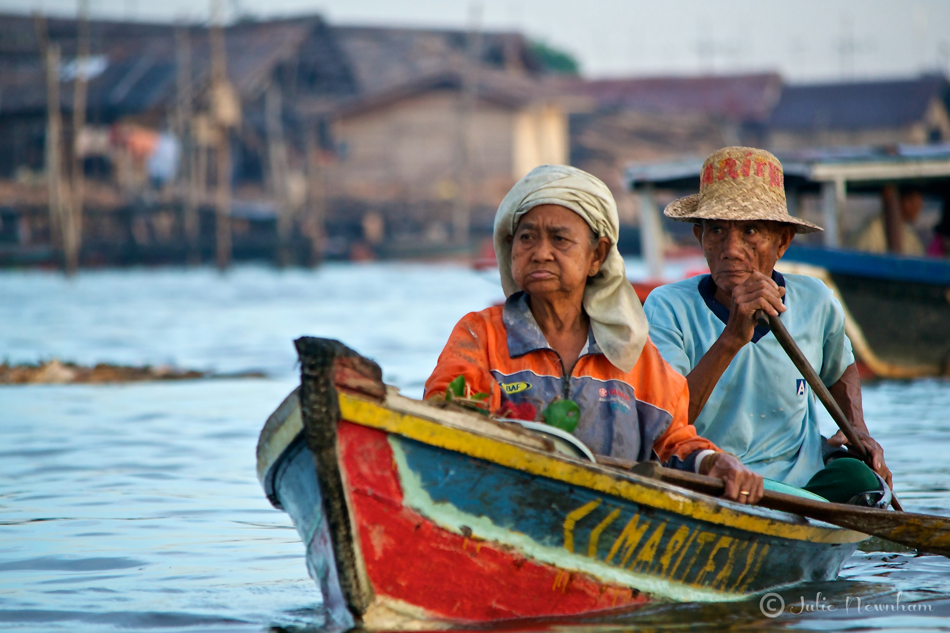Banjarmasin Floating Market old couple Julie Newnham