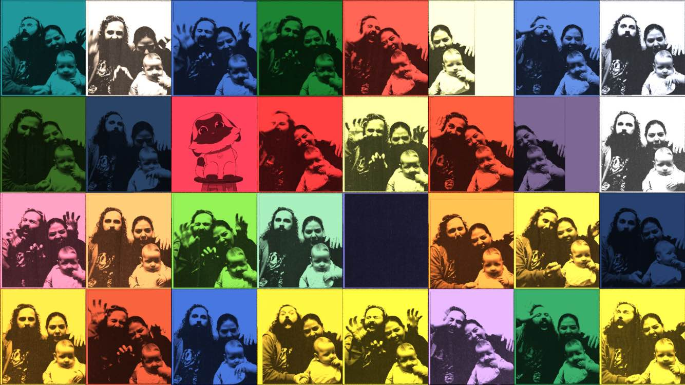 Family of 3 Andy Warhol pop art
