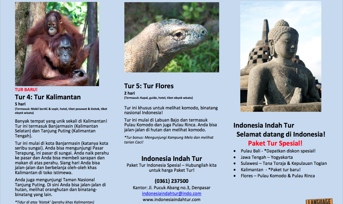 Indo travel brochure pg2 sample pic LLS