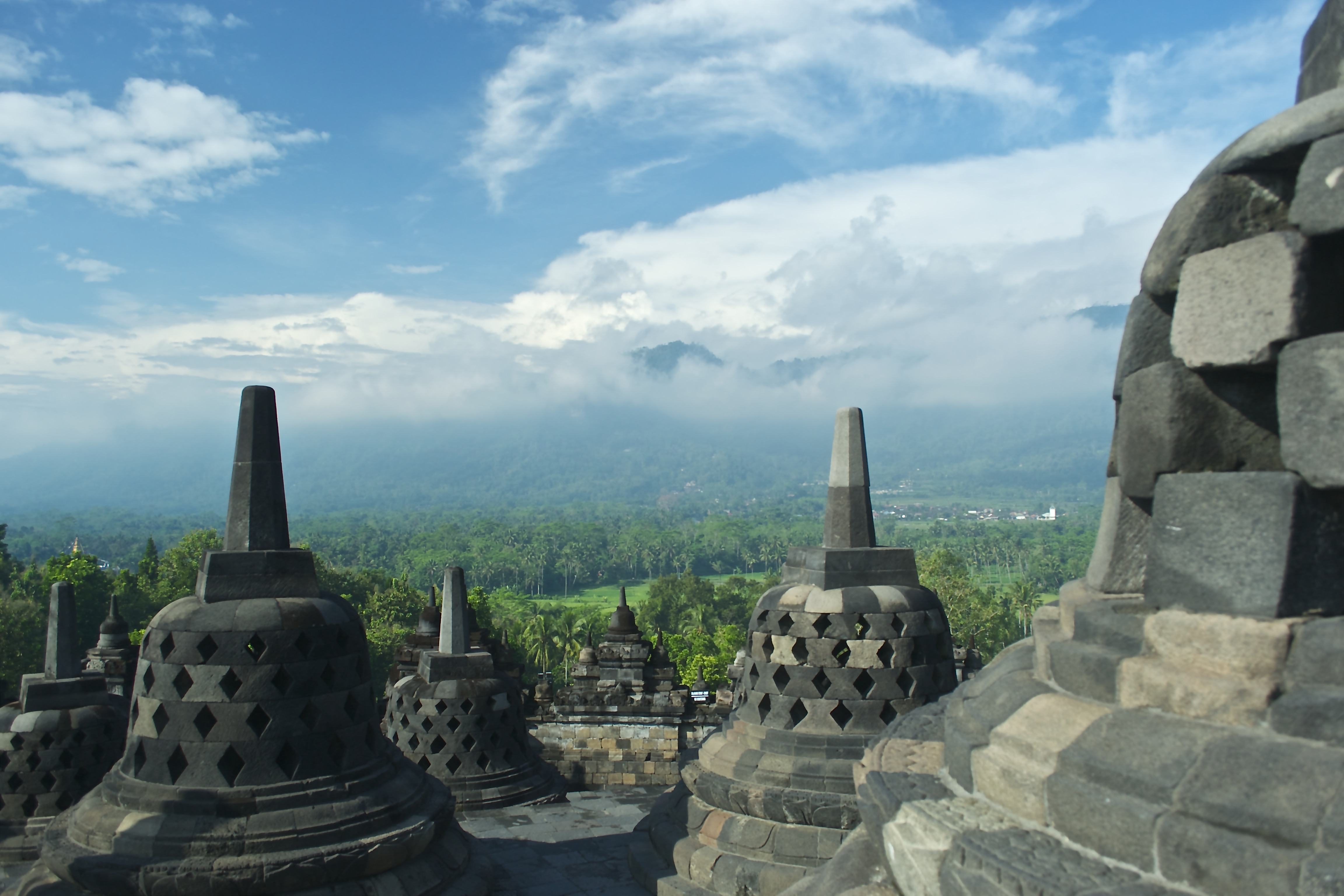 One of the many views of Candi Borobudur.